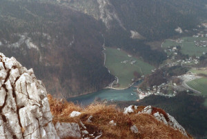 Jenner View of Konigsee from Mtn Top - 1989