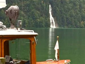 Konigssee Waterfall and Front of Boat